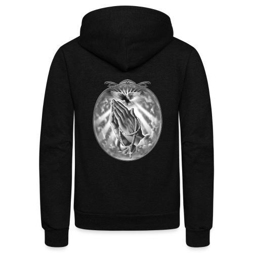 Praying Hands by RollinLow - Unisex Fleece Zip Hoodie