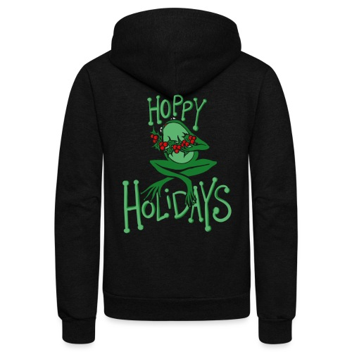 Hoppy Holidays - Unisex Fleece Zip Hoodie