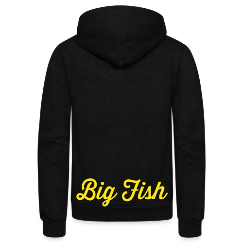 Big Fish Outlined - Unisex Fleece Zip Hoodie