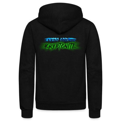 Karbs Are My Kryptonite - Unisex Fleece Zip Hoodie