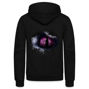 Dragon Eye - Unisex Fleece Zip Hoodie by American Apparel