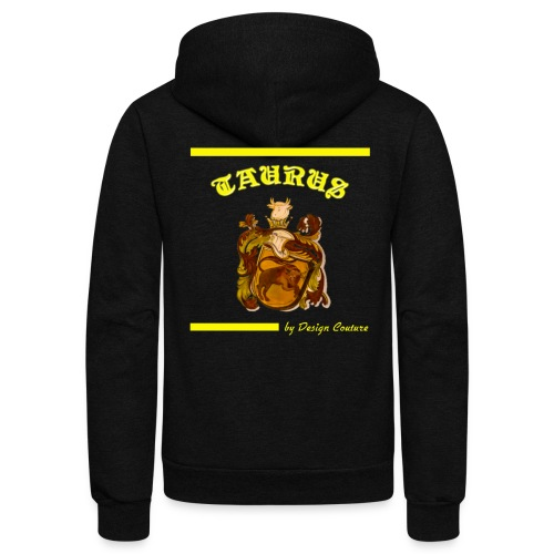 TAURUS YELLOW - Unisex Fleece Zip Hoodie
