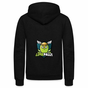 Limepally's Logo - Unisex Fleece Zip Hoodie by American Apparel