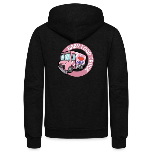 Pink baby food truck - Unisex Fleece Zip Hoodie