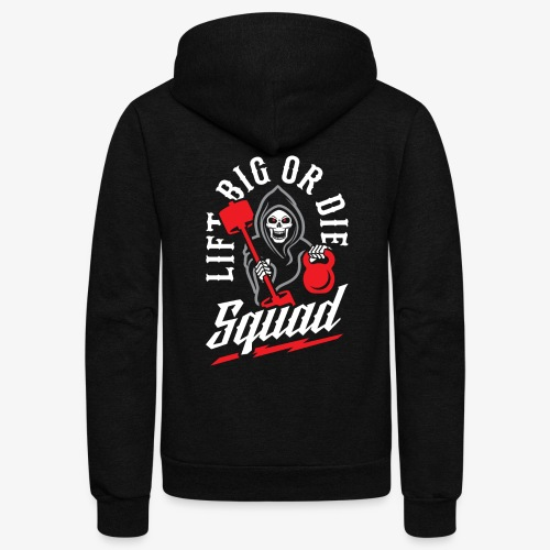 Lift Big Or Die Squad - Unisex Fleece Zip Hoodie