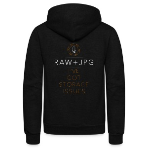 For the RAW+JPG Shooter - Unisex Fleece Zip Hoodie by American Apparel