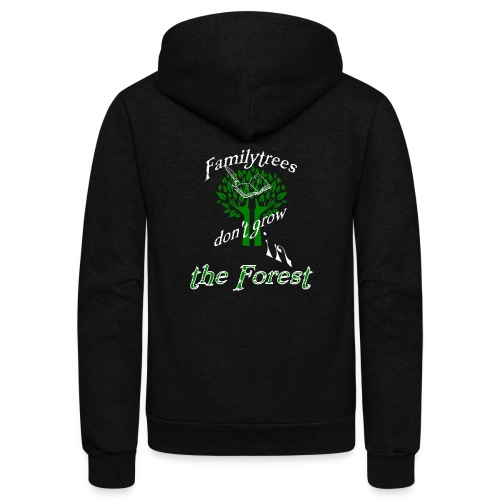 genealogy family tree forest funny birthday gift - Unisex Fleece Zip Hoodie