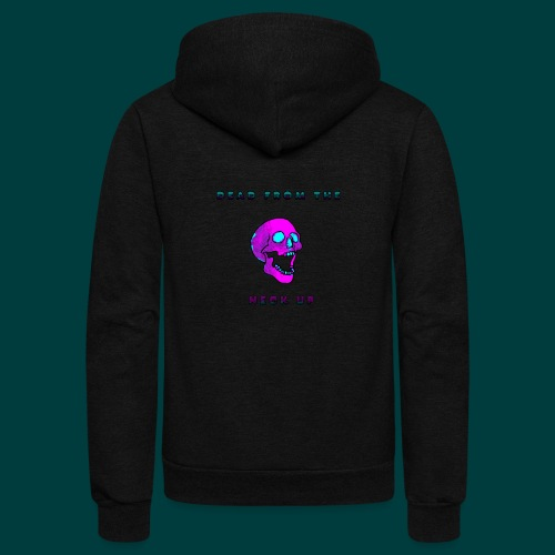 Dead from the neck up - Unisex Fleece Zip Hoodie