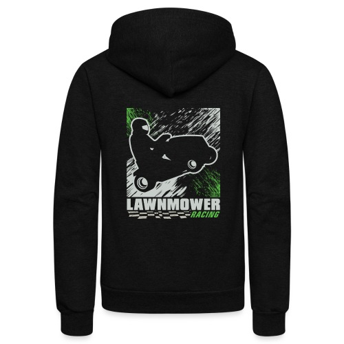 Lawnmower Racing Abstract - Unisex Fleece Zip Hoodie