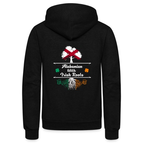 ALABAMIAN WITH IRISH ROOTS - Unisex Fleece Zip Hoodie