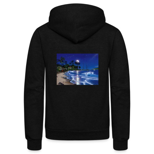 full moon - Unisex Fleece Zip Hoodie