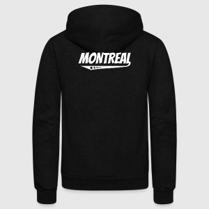 Montreal Retro Comic Book Style Logo - Unisex Fleece Zip Hoodie by American Apparel