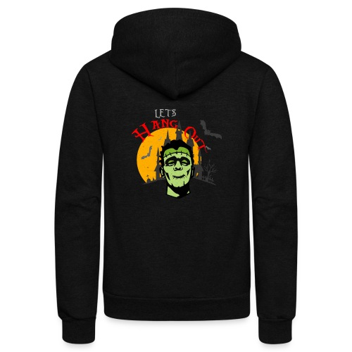 LET S HANG OUT FRANKENSTEIN copy - Unisex Fleece Zip Hoodie