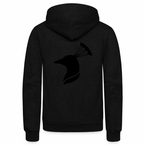 peacock head - Unisex Fleece Zip Hoodie