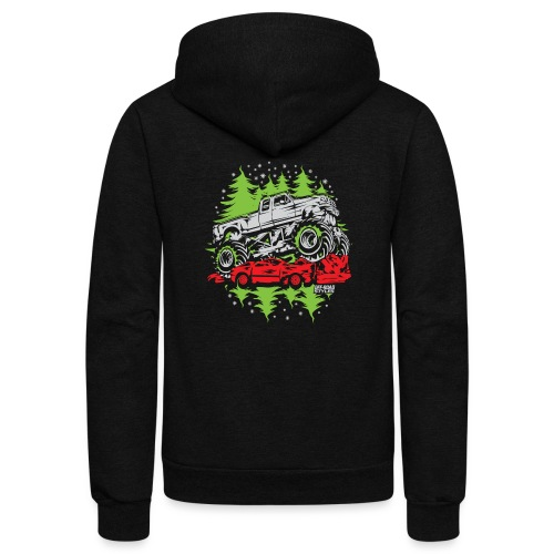 Ugly Christmas Monster - Unisex Fleece Zip Hoodie