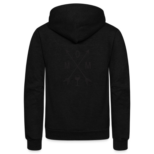 Mom Loves Wine (black ink) - Unisex Fleece Zip Hoodie