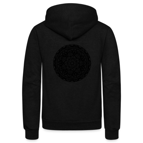 Circle No.2 - Unisex Fleece Zip Hoodie