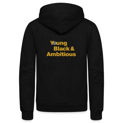 YBA Black and Gold Shirt2 - Unisex Fleece Zip Hoodie