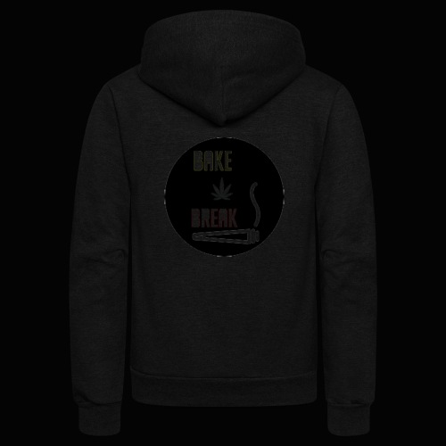 Bake Break Logo Cutout - Unisex Fleece Zip Hoodie