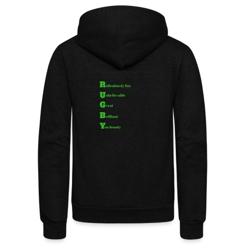 Rugby design for T-shirts and other merchandise - Unisex Fleece Zip Hoodie