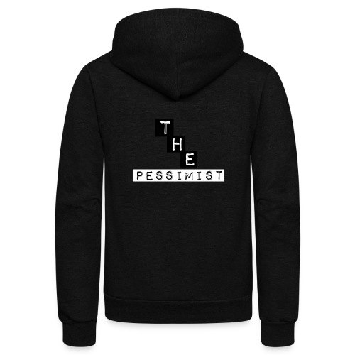 The pessimist Abstract Design - Unisex Fleece Zip Hoodie