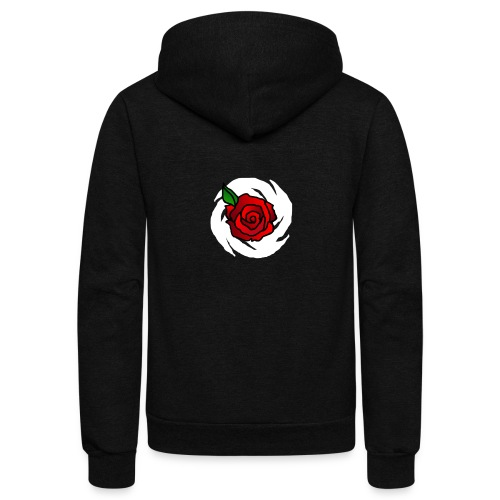 Painted Rose - Unisex Fleece Zip Hoodie
