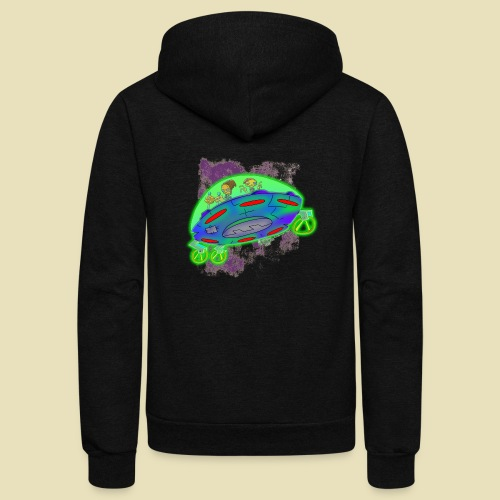 Ongher's UFO Flying Saucer - Unisex Fleece Zip Hoodie