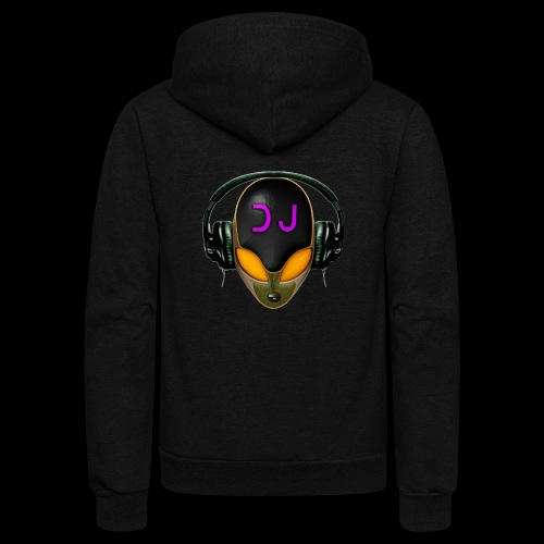 Alien DJ - Orange - Hard Shell Bug - Unisex Fleece Zip Hoodie