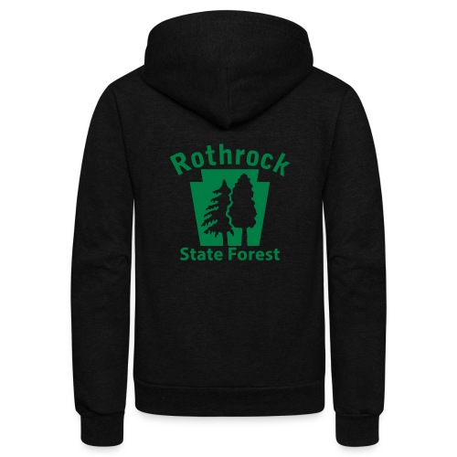 Rothrock State Forest Keystone (w/trees) - Unisex Fleece Zip Hoodie