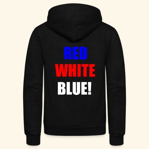 red white blue OCD - Unisex Fleece Zip Hoodie