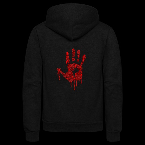 The Haunted Hand Of Zombies - Unisex Fleece Zip Hoodie