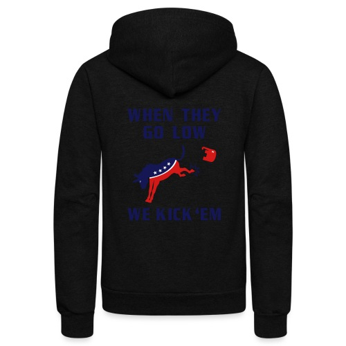 GOP Go Low We Kick Em - Unisex Fleece Zip Hoodie