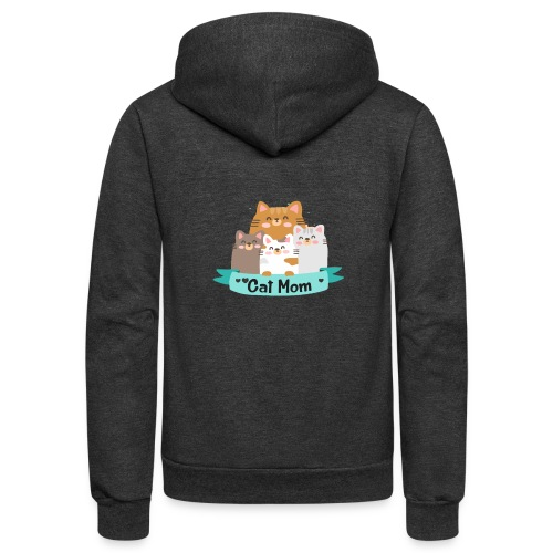 Cat MOM, Cat Mother, Cat Mum, Mother's Day - Unisex Fleece Zip Hoodie