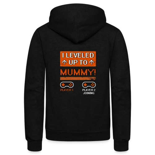 I Leveled Up To Mummy - Unisex Fleece Zip Hoodie