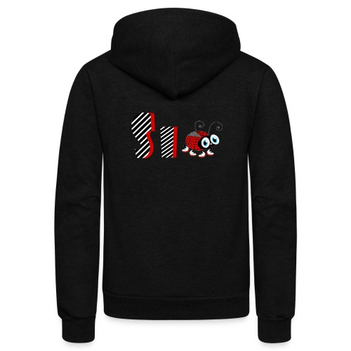 6nd Year Family Ladybug T-Shirts Gifts Daughter - Unisex Fleece Zip Hoodie