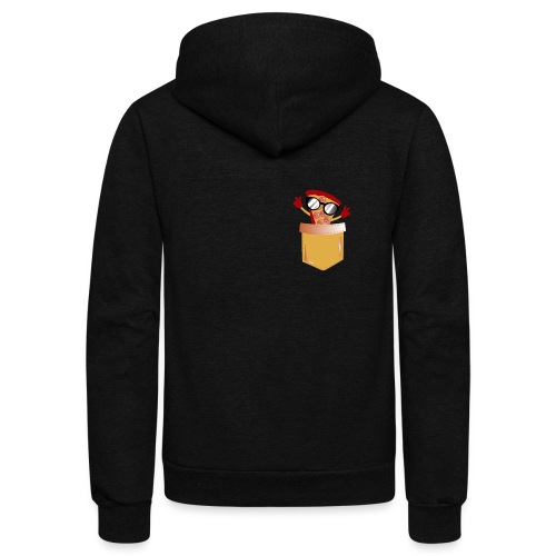 Pizza Lover pocket - Unisex Fleece Zip Hoodie