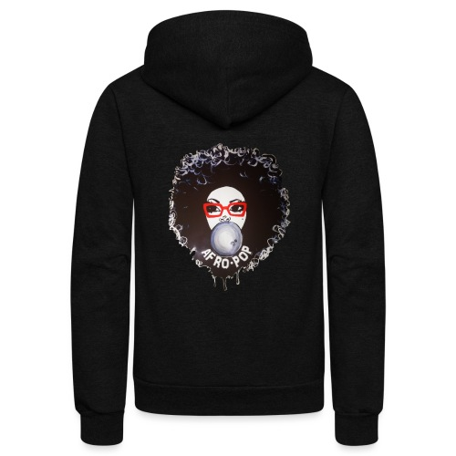 Afro pop_ - Unisex Fleece Zip Hoodie