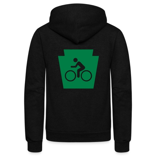 PA Keystone w/Bike (bicycle) - Unisex Fleece Zip Hoodie