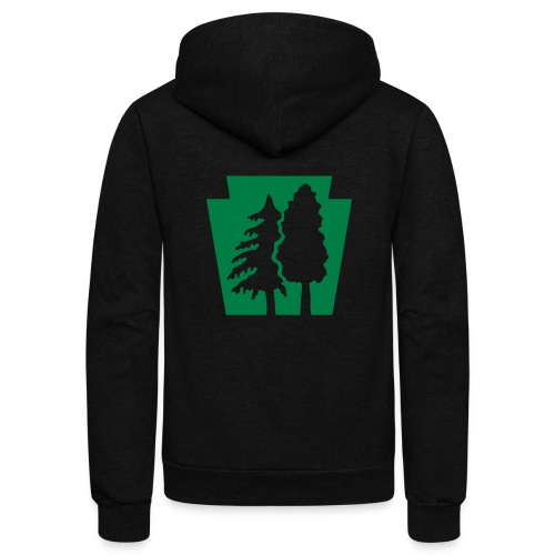 PA Keystone w/trees - Unisex Fleece Zip Hoodie