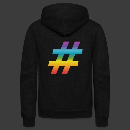 Rainbow Include Hash - Unisex Fleece Zip Hoodie
