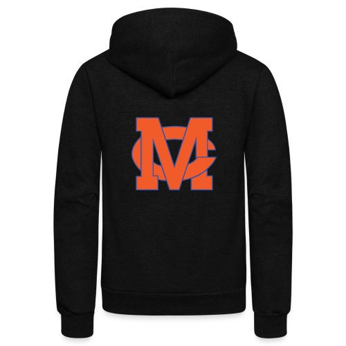 interlocking MC vector - Unisex Fleece Zip Hoodie