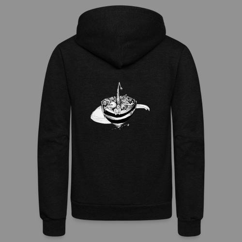 Wolfman Originals Black & White 15 - Unisex Fleece Zip Hoodie
