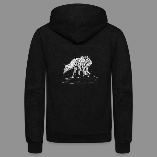 Wolfman Originals Black & White 13 - Unisex Fleece Zip Hoodie