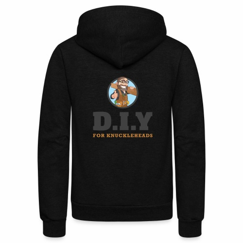 DIY For Knuckleheads Logo - Unisex Fleece Zip Hoodie