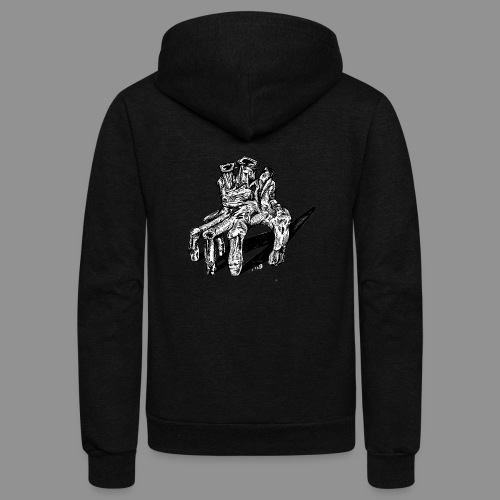 Wolfman Originals Black & White 19 - Unisex Fleece Zip Hoodie