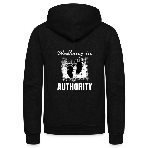 Walking in authority - Unisex Fleece Zip Hoodie
