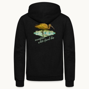 BIRDER - White-faced ibis - Carolyn Sandstrom - Unisex Fleece Zip Hoodie