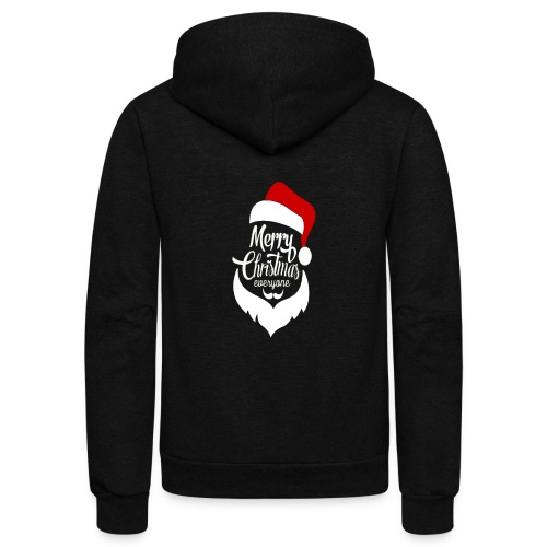 Merry Christmas Tee - Unisex Fleece Zip Hoodie