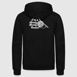 I'm A Knotty Knotty Hooker - Unisex Fleece Zip Hoodie by American Apparel