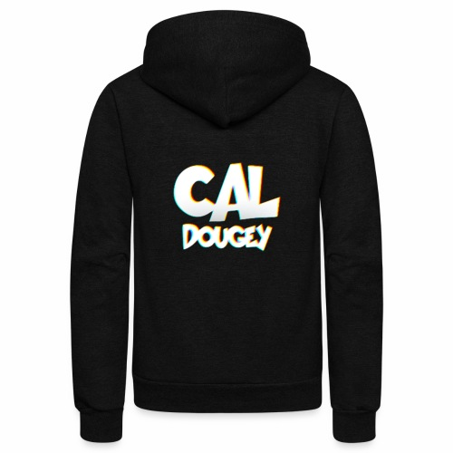 CAL DOUGEY TEXT - Unisex Fleece Zip Hoodie